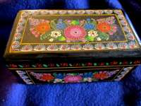 Hand Painted Floral Crystal Box