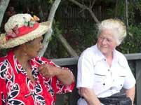Hennae, a Maori Elder and my ama...